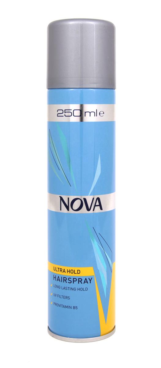 Лак для волос Nova сверхсильной фиксации 250 мл (желтый)
