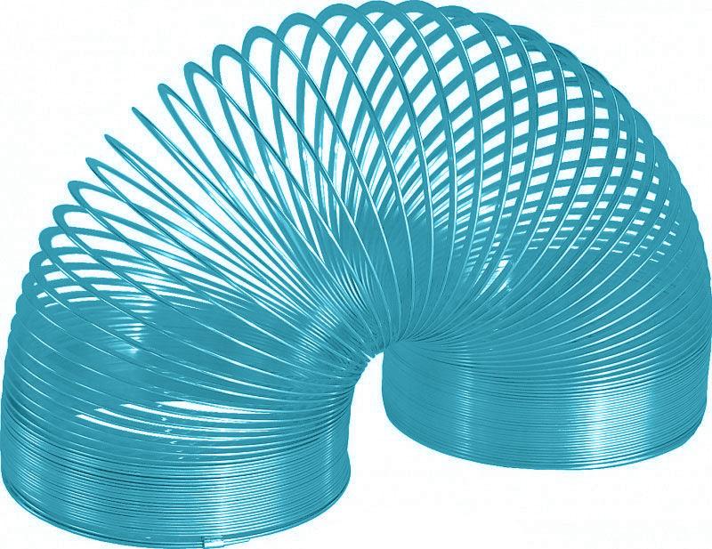 Игрушка-пружинка Slinky, металлическая, цвет: бирюзовый металлическая пружинка