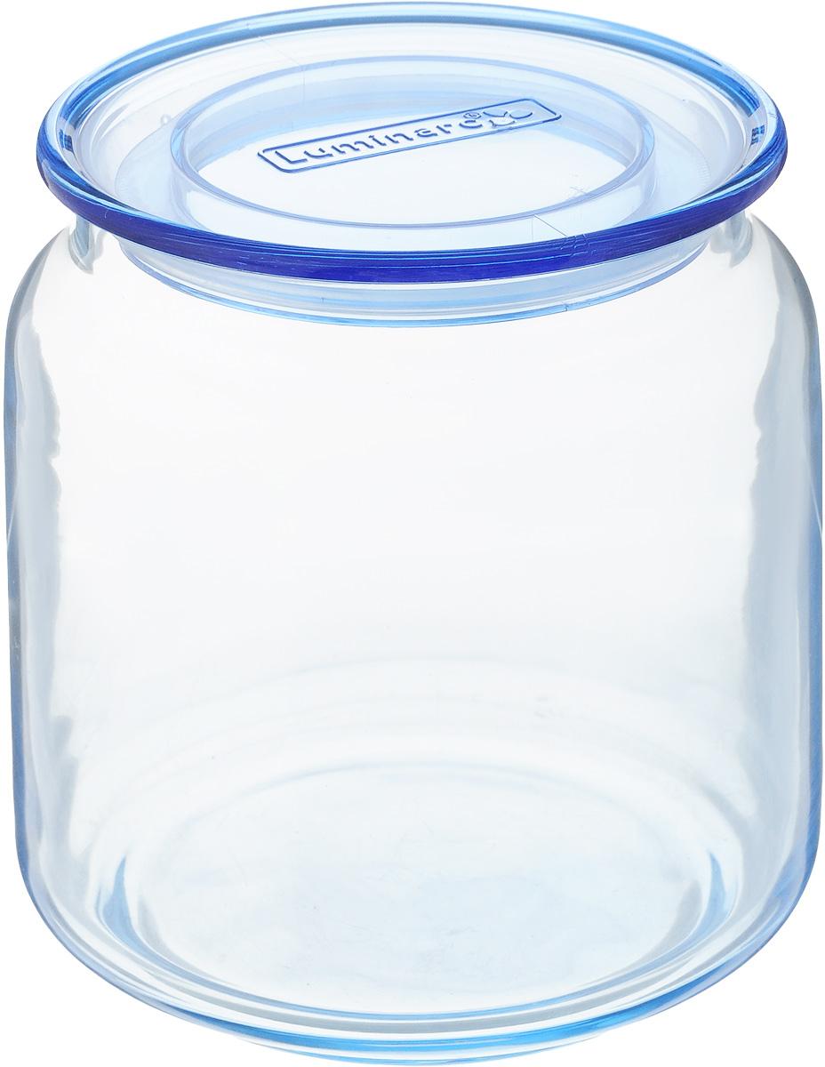 Банка для сыпучих продуктов Luminarc Rondo, с крышкой, цвет: голубой, 500 мл банка 11х7 5х12 5 см 500 мл nouvelle банка 11х7 5х12 5 см 500 мл