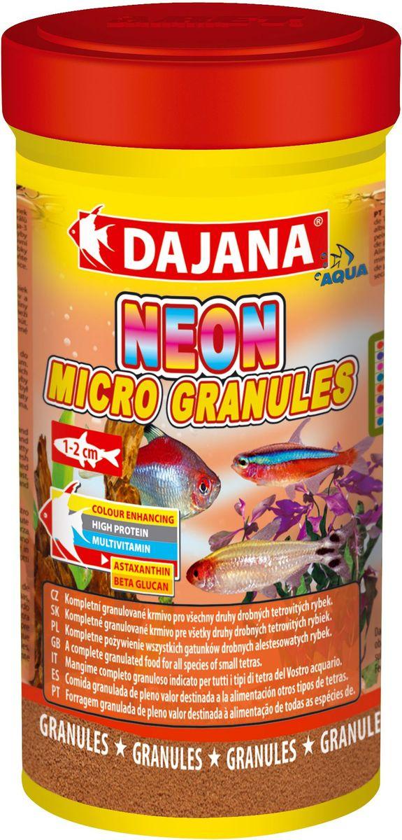 Корм для рыб Dajana Neon Micro Granules, 250 мл живой корм для рыбок хранение