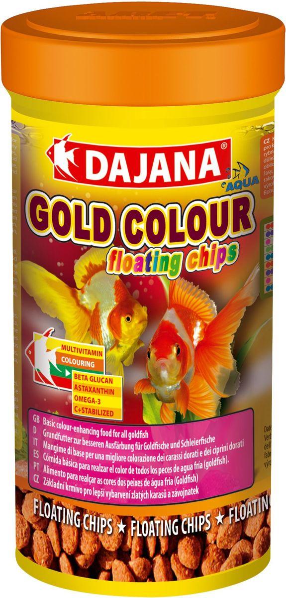 Корм для рыб Dajana Gold Colour Floating Chips, 250 мл корм для рыбок цена