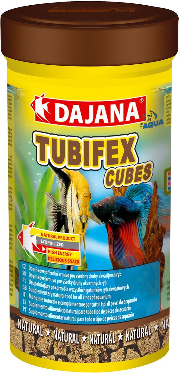 Корм для рыб Dajana Tubifex Cubes, 250 мл трубочник корм для рыб