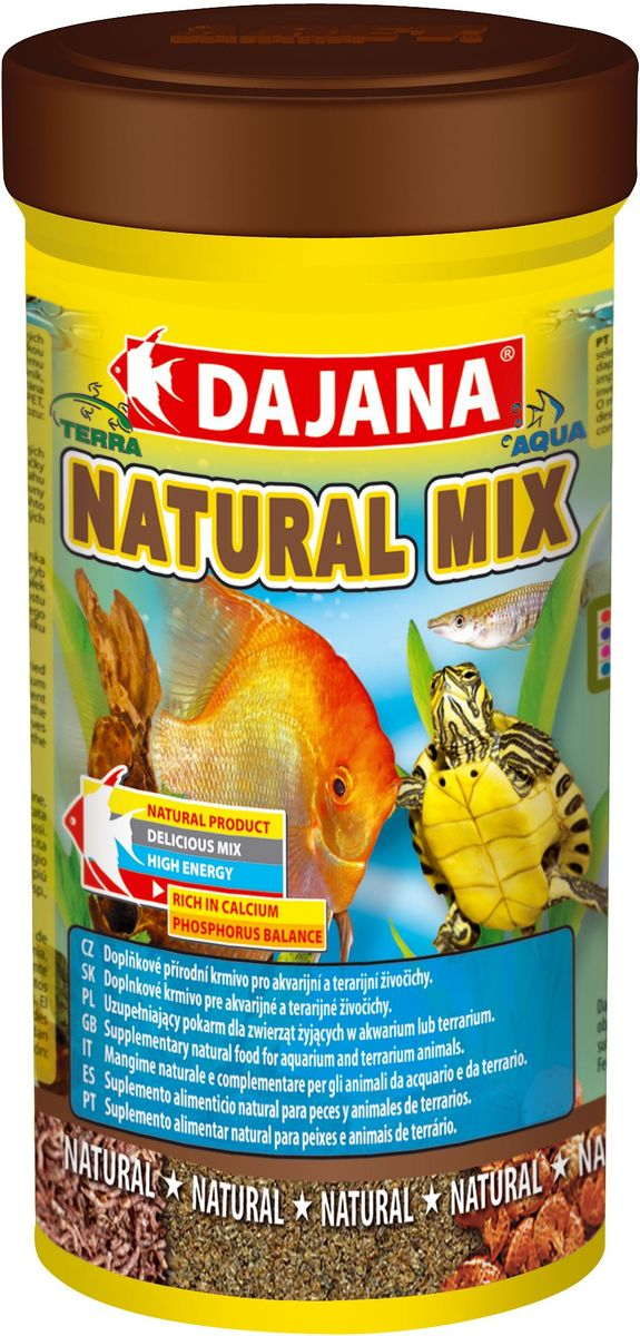 Корм для рыб и рептилий Dajana Natural Mix, 100 мл корм для животных оптом