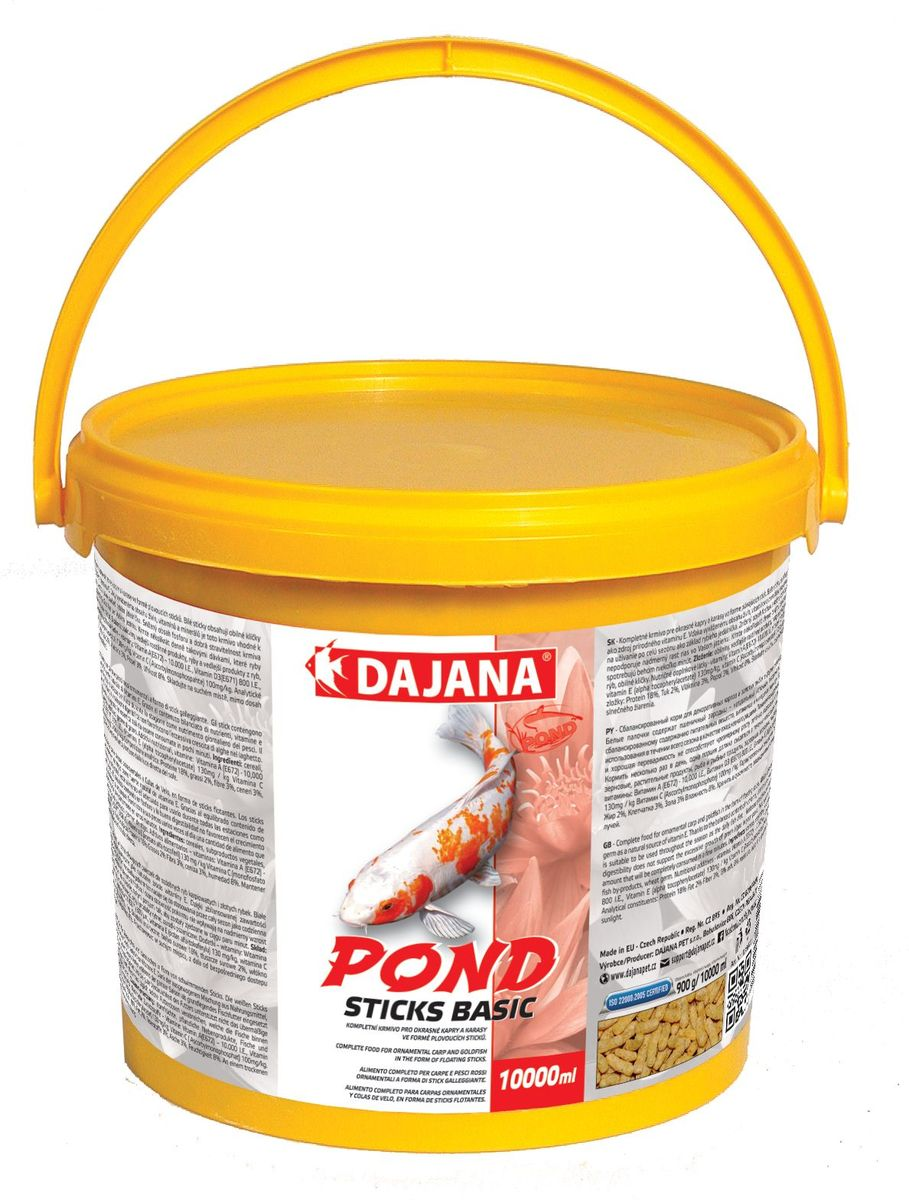 Корм для прудовых рыб Dajana Pond Sticks Basic, 10 л корм для рыбок цена