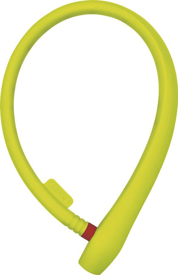 Велозамок Abus Ugrip Cable 560/65, с ключами, цвет: лайм, длина 65 см