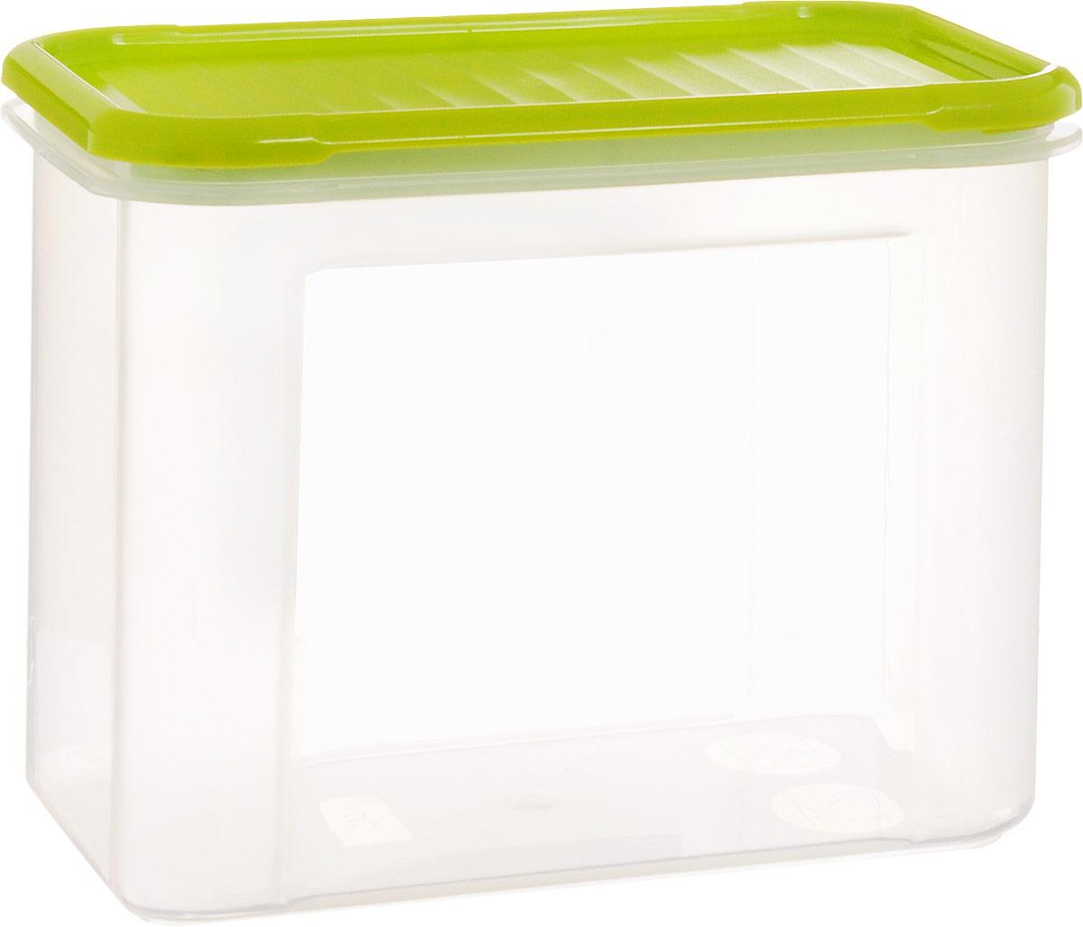 Банка для сыпучих продуктов Giaretti Krupa, цвет: оливковый, прозрачный, 1 л банка для сыпучих продуктов giaretti krupa с дозатором цвет оливковый прозрачный 750 мл