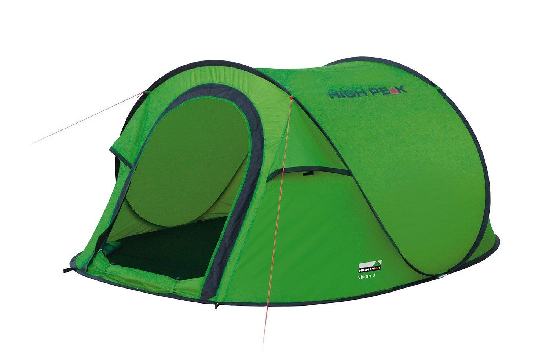 Палатка High Peak Vision 3, цвет: зеленый, 235 х 180 х 100 см. 10123
