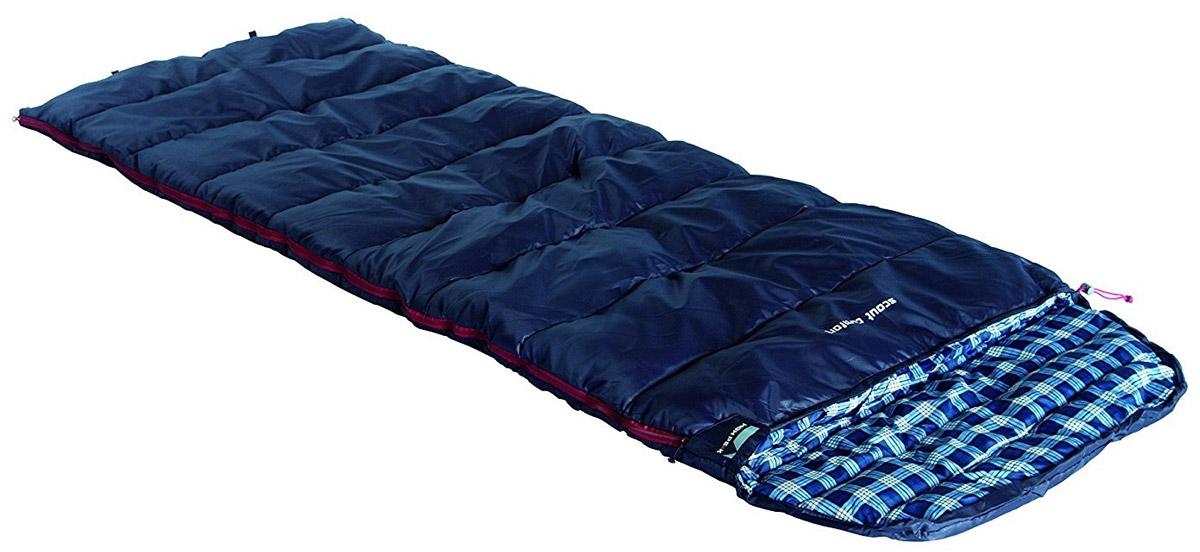 Спальный мешок-одеяло High Peak Scout Comfort, цвет: темно-синий, правосторонняя молния спальный мешок одеяло high peak scout comfort цвет темно синий левосторонняя молния