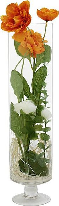"""Цветы декоративные Dream Garden """"Маки"""", в стеклянной вазе"""