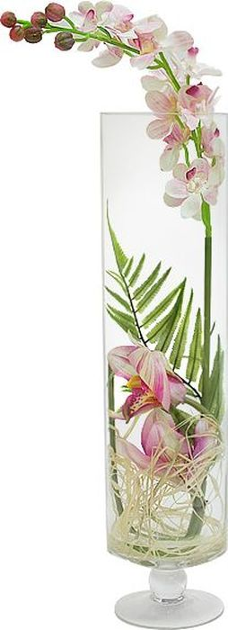 Фото - Цветы декоративные Dream Garden Орхидея светло-розовая, в стеклянной вазе цветы