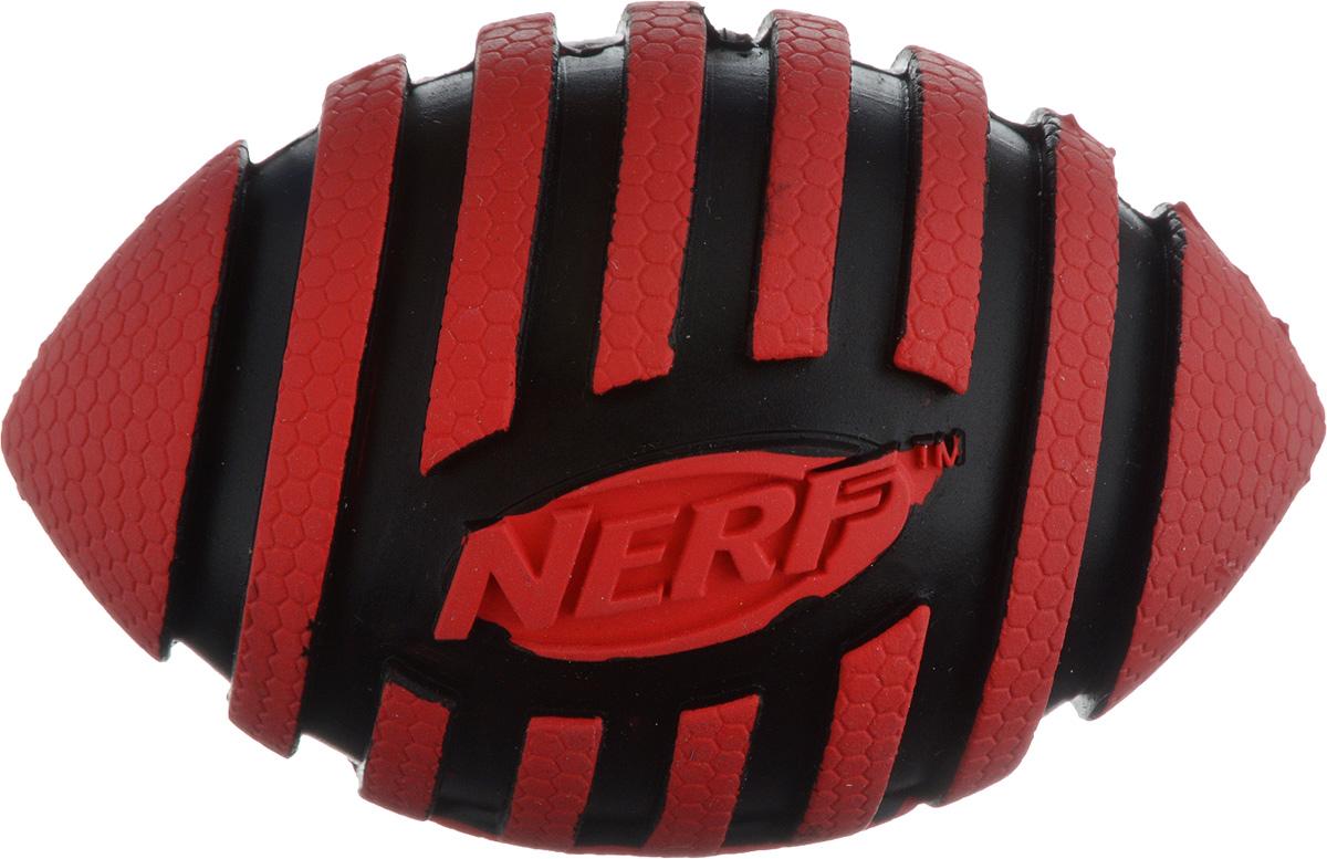 Игрушка для собак Nerf Мяч для регби, с пищалкой, длина 9 см игрушка для собак nerf булава с пищалкой 17 5 см