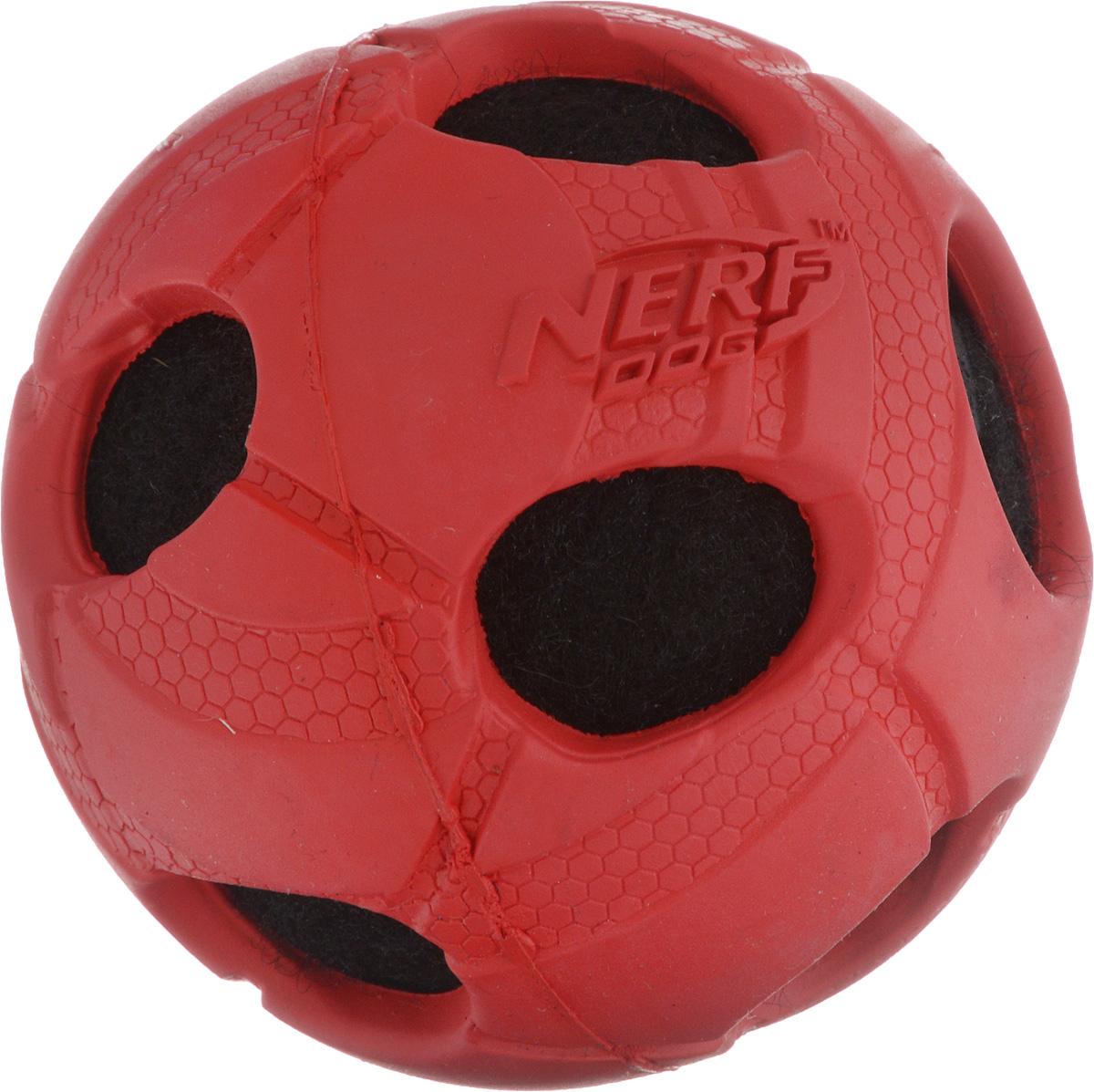 Игрушка для собак Nerf Мяч с отверстиями, диаметр 7,5 см nerf игрушка для собак nerf краб плавающая игрушка 20 см