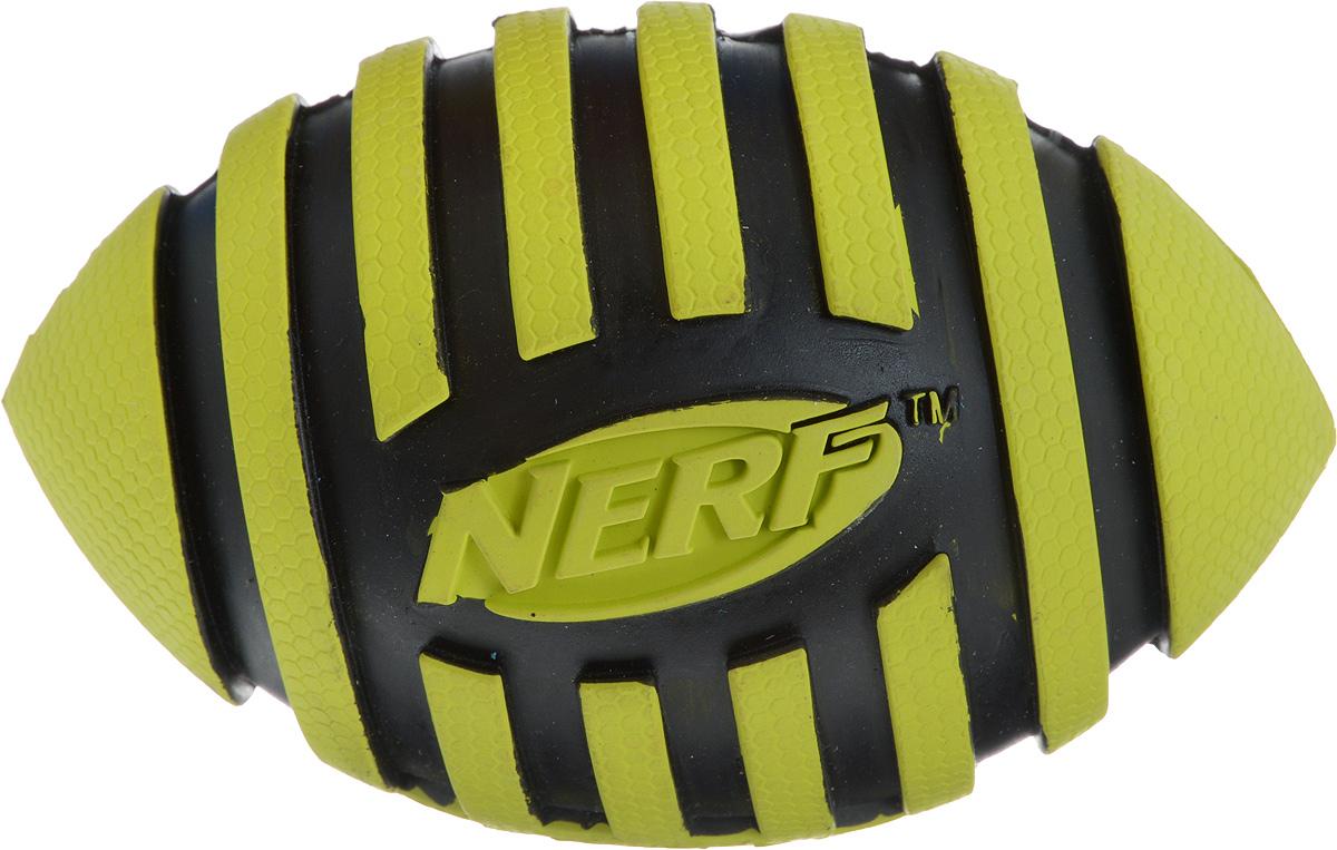 Игрушка для собак Nerf Мяч для регби, с пищалкой, длина 12,5 см игрушка для собак nerf булава с пищалкой 17 5 см
