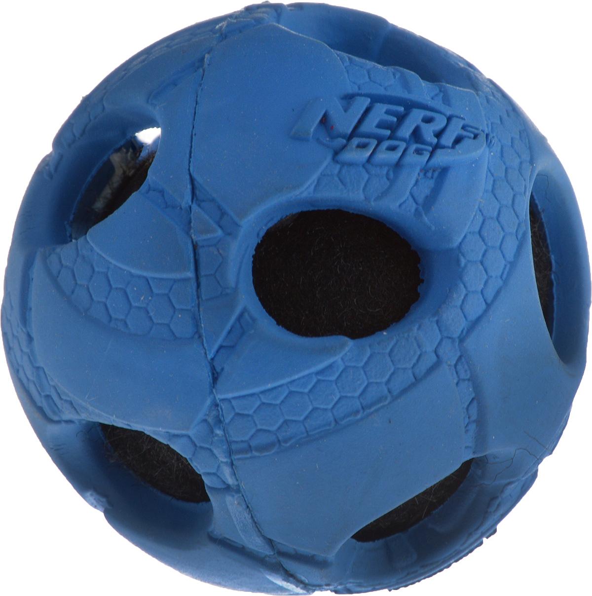 Игрушка для собак Nerf Мяч с отверстиями, диаметр 5 см цена
