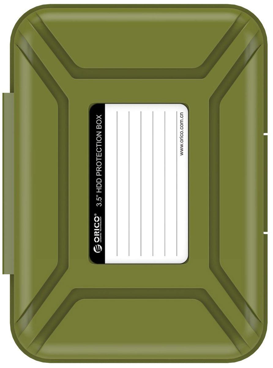 Orico PHX-35, Green чехол для жесткого диска orico phx 35 чехол для hdd 3 5 grey