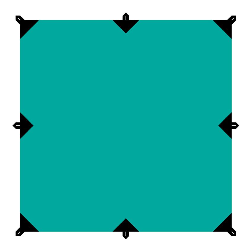 Тент Tramp, цвет: зеленый, 3 х 3 м