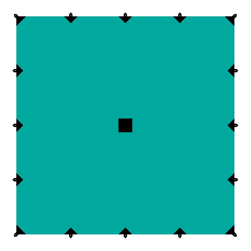 """Тент """"Tramp"""", цвет: зеленый, 6 х 6 м"""