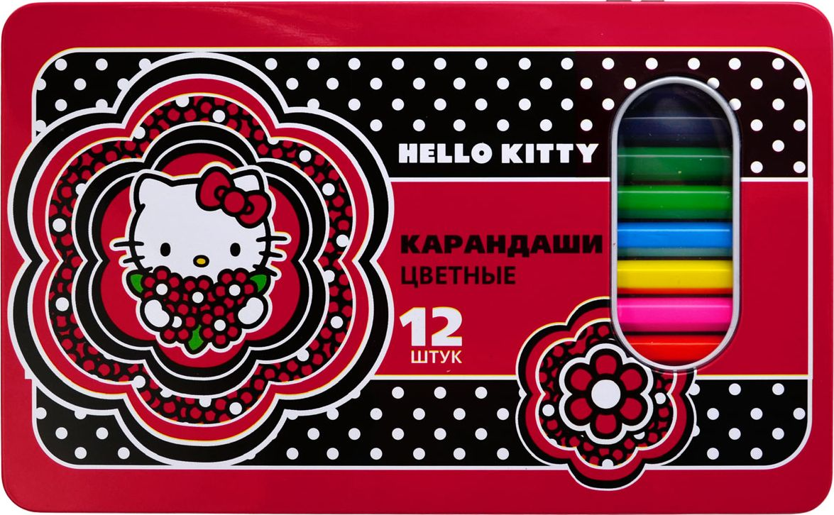Action! Набор цветных карандашей Hello Kitty 12 цветов цена и фото