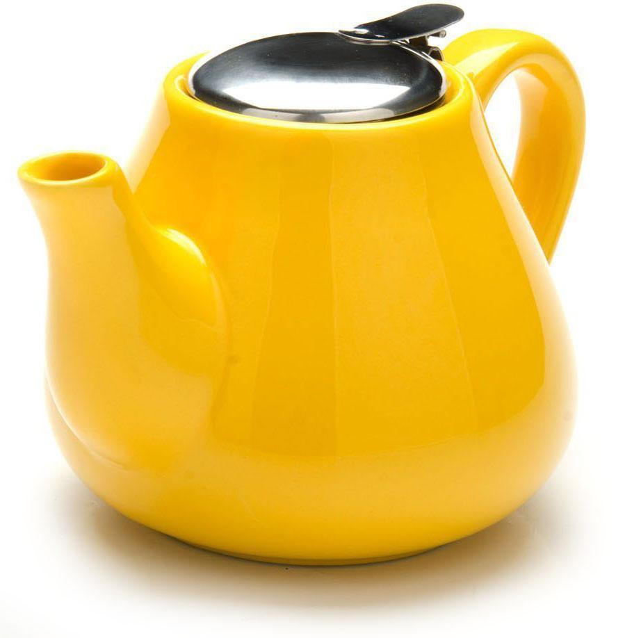 Заварочный чайник Loraine, цвет: желтый, 600 мл. 26595-2