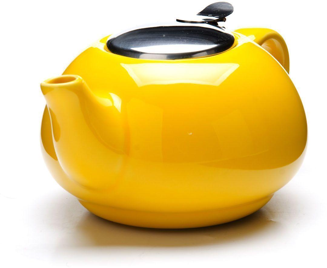 Заварочный чайник Loraine, цвет: желтый, 750 мл. 26596-2 заварочный чайник loraine цвет красный 750 мл 26597 3