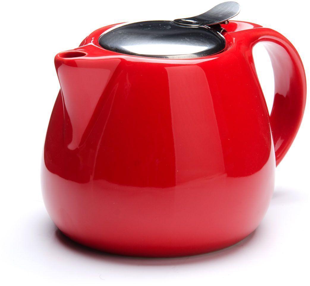 Заварочный чайник Loraine, цвет: красный, 750 мл. 26597-3
