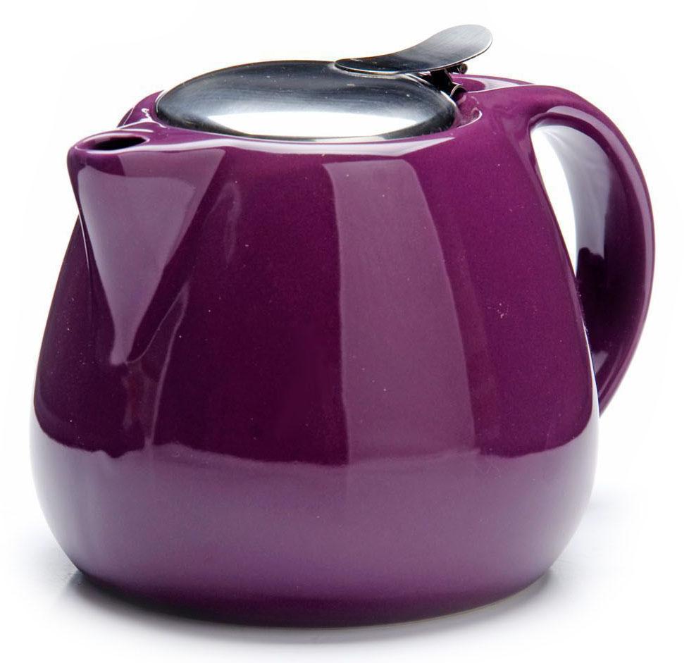 Заварочный чайник Loraine, цвет: фиолетовый, 750 мл. 26597