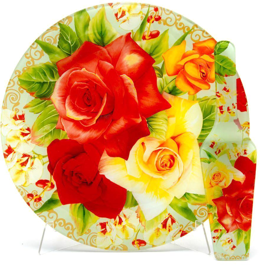 Блюдо для торта Loraine, с лопаткой, диаметр 30,5 см. 26630-5 блюда lefard блюдо для торта с лопаткой 23см