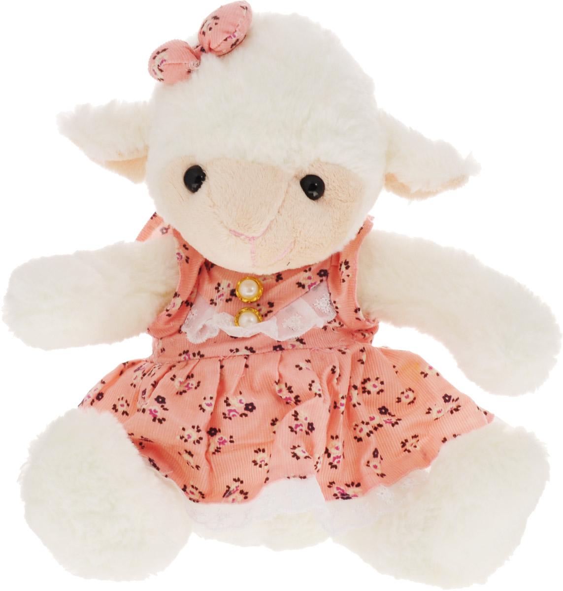 Фото - Magic Bear Toys Мягкая игрушка Овечка девочка цвет розовый 23 см magic bear toys мягкая игрушка овечка цвет фиолетовый 42 см