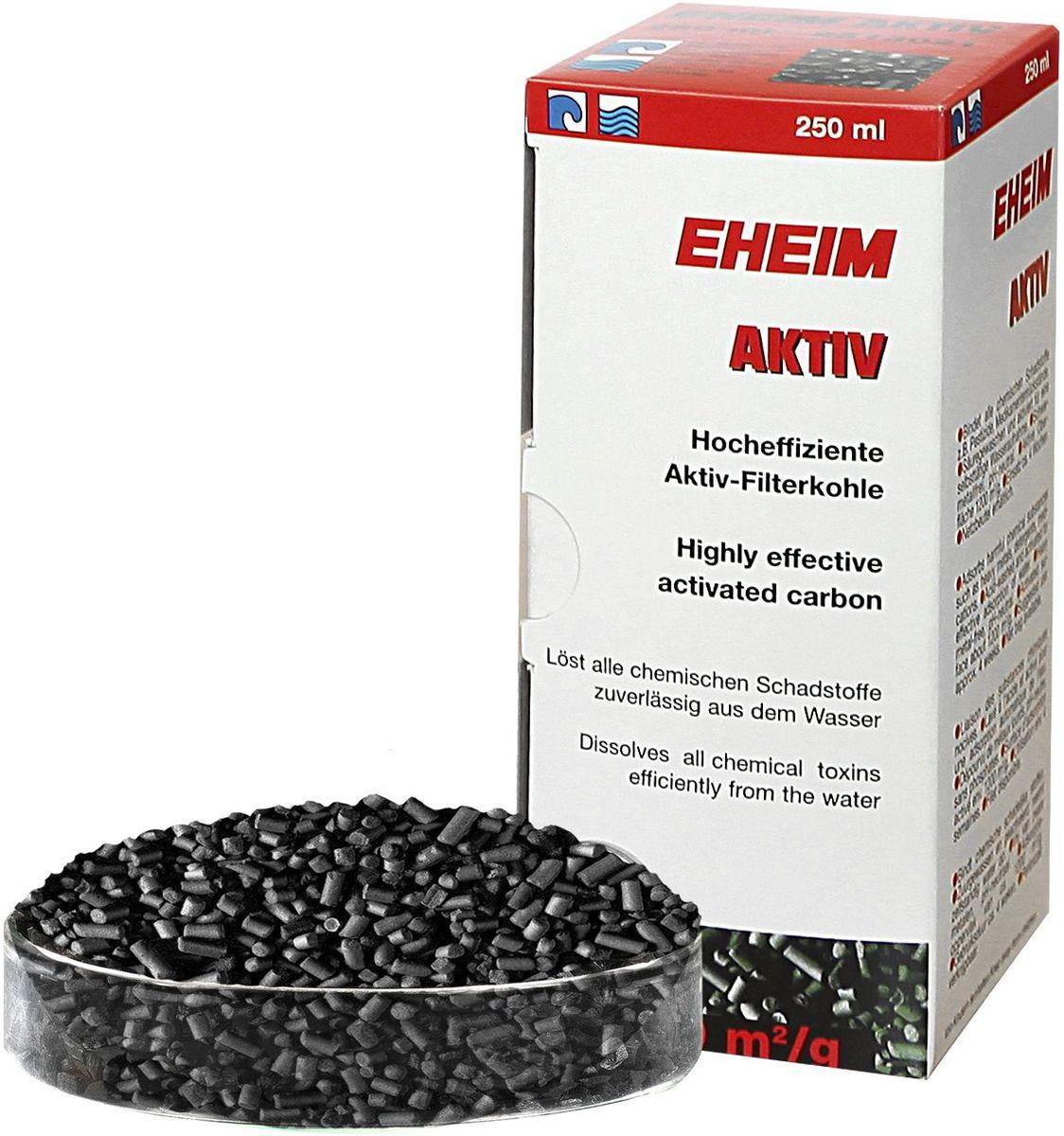 Наполнитель для фильтра Eheim Aktiv Carbon, угольный, 250 мл наполнитель для фильтра eheim experience 150 250 угольный 3 шт