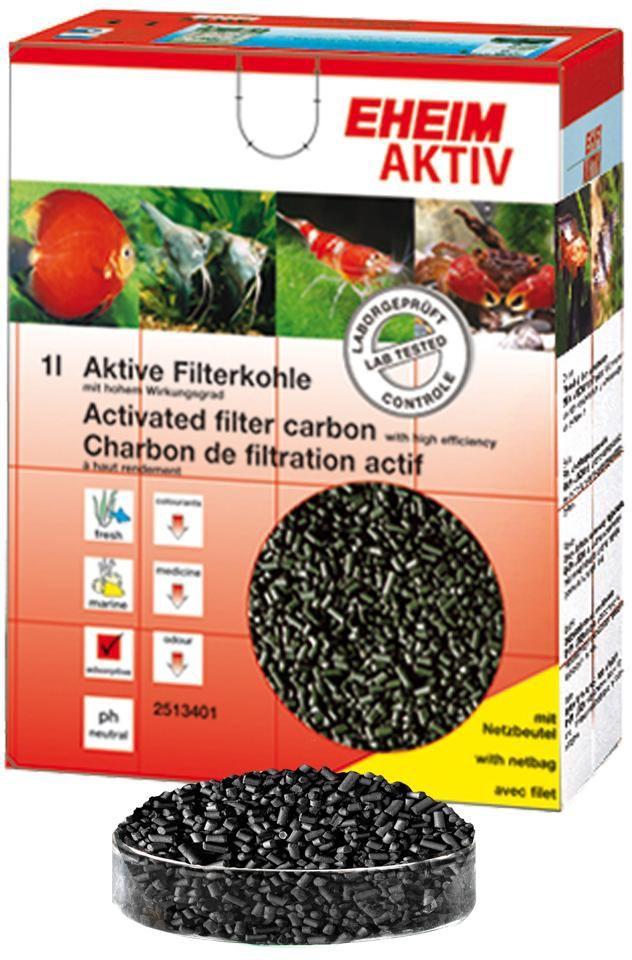 Наполнитель для фильтра Eheim Aktiv Carbon, угольный, 2 л наполнитель для фильтра eheim experience 150 250 угольный 3 шт