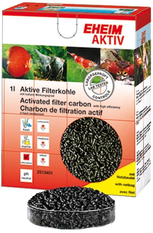 Наполнитель для фильтра Eheim Aktiv Carbon, угольный, 1 л наполнитель для фильтра eheim experience 150 250 угольный 3 шт