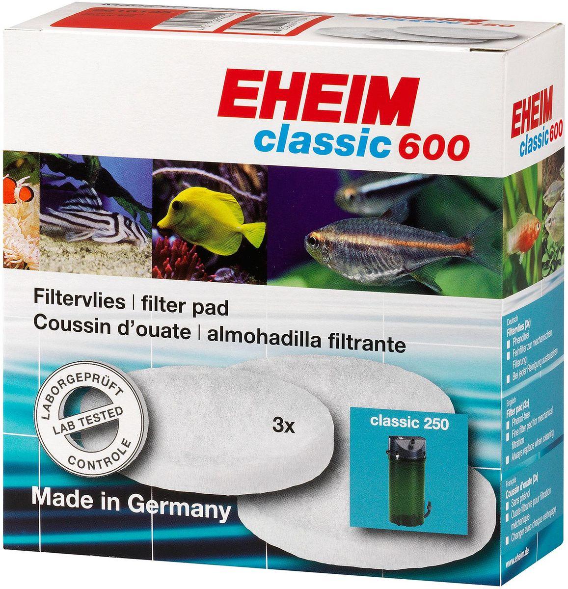 """Наполнитель для фильтра Eheim """"Classic 600"""", синтепон, 3 шт"""