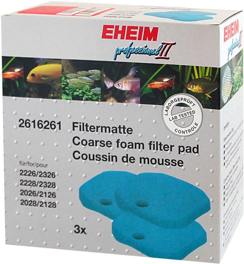 Наполнитель для фильтра Eheim Experience 150/250, поролон, 3 шт наполнитель для фильтра eheim experience 150 250 угольный 3 шт