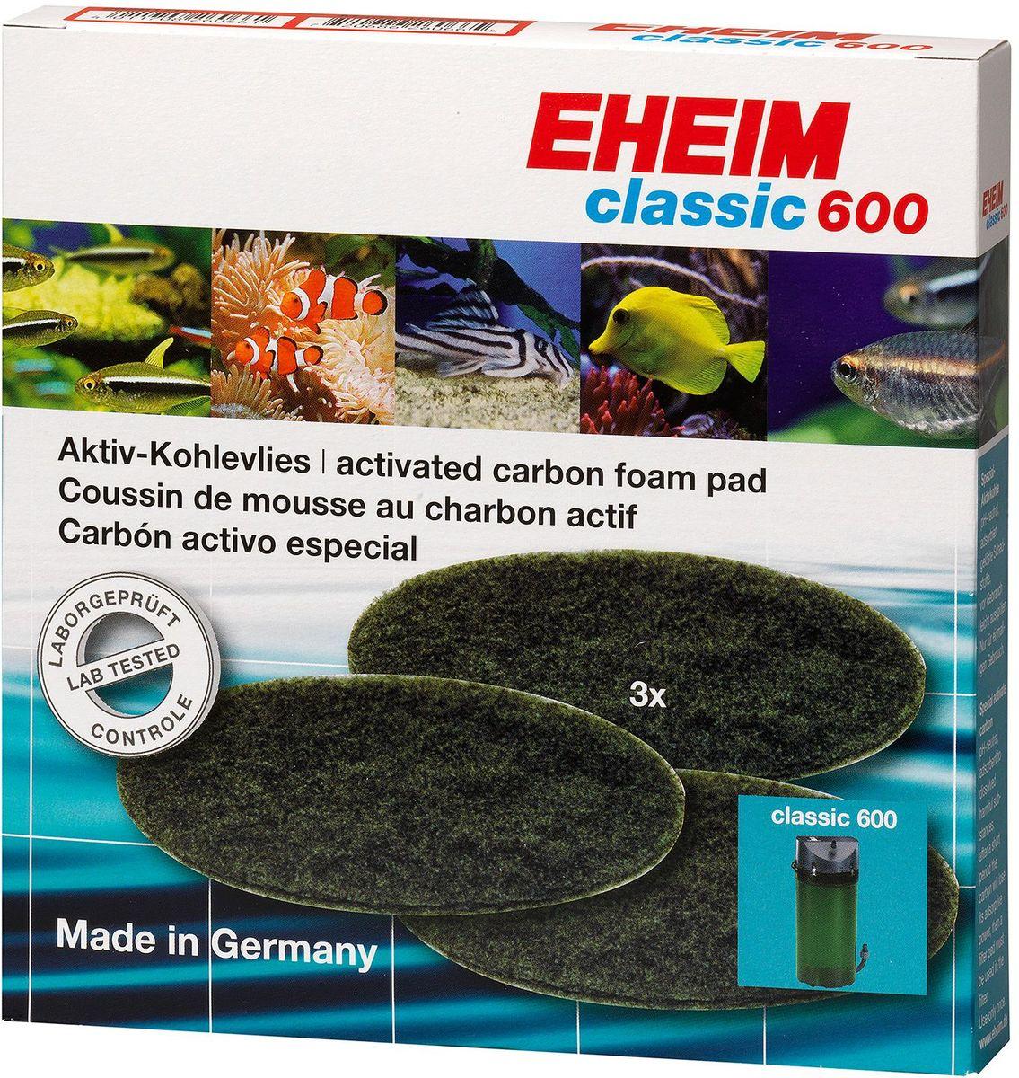 Наполнитель для фильтра Eheim Classic 600, угольный, 3 шт наполнитель для фильтра eheim experience 150 250 угольный 3 шт
