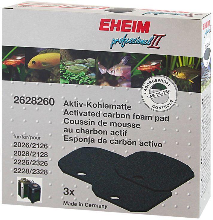 Наполнитель для фильтра Eheim Experience 350, угольный, 3 шт наполнитель для фильтра eheim experience 150 250 угольный 3 шт