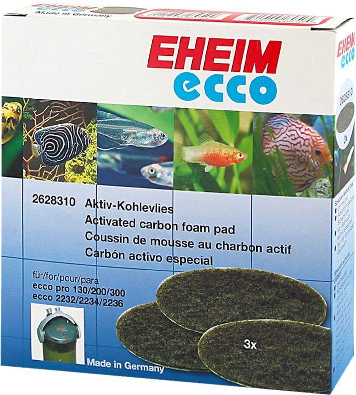 Наполнитель для фильтра Eheim Eccopro 130/200/300, угольный, 3 шт наполнитель для фильтра eheim experience 150 250 угольный 3 шт