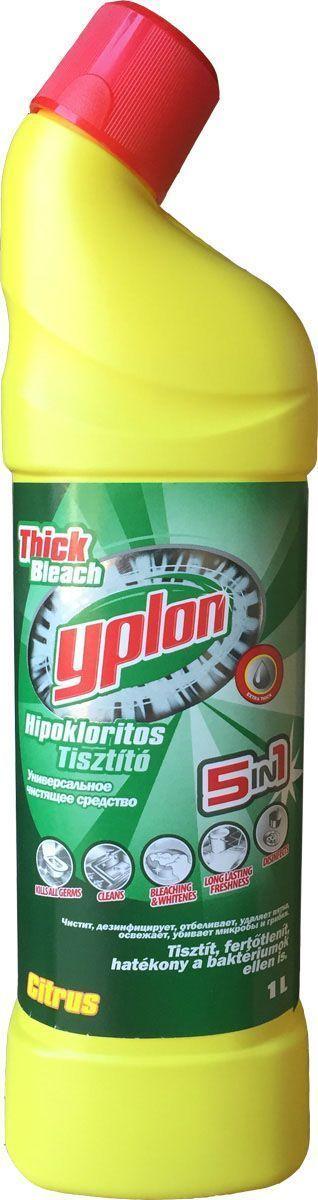 Гель для чистки унитаза Yplon 5 в 1. Лимон, 1 л шампунь для чистки ковров yplon 1 л