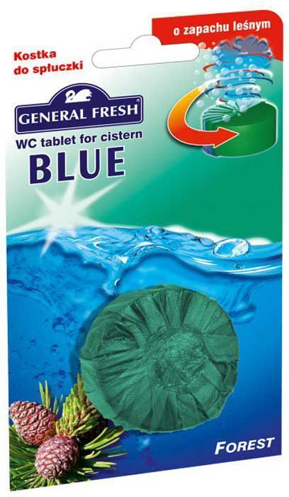 """Очиститель-освежитель для смывного бачка General Fresh """"Blue. Forest"""", таблетка, 1 шт х 50 г"""
