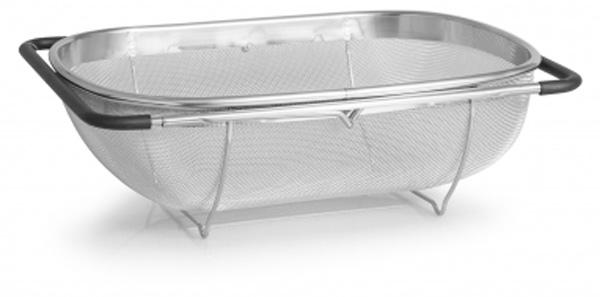 """Корзина Attribute """"Steel Touch"""", в раковину , 34 х 24 см"""