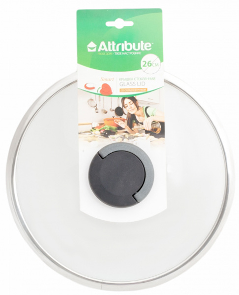 """Крышка для посуды Attribute """"Smart"""", 26 см. ALS326"""