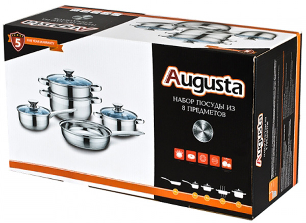 "Набор посуды Attribute ""Augusta"", 8 предметов. ASS401"