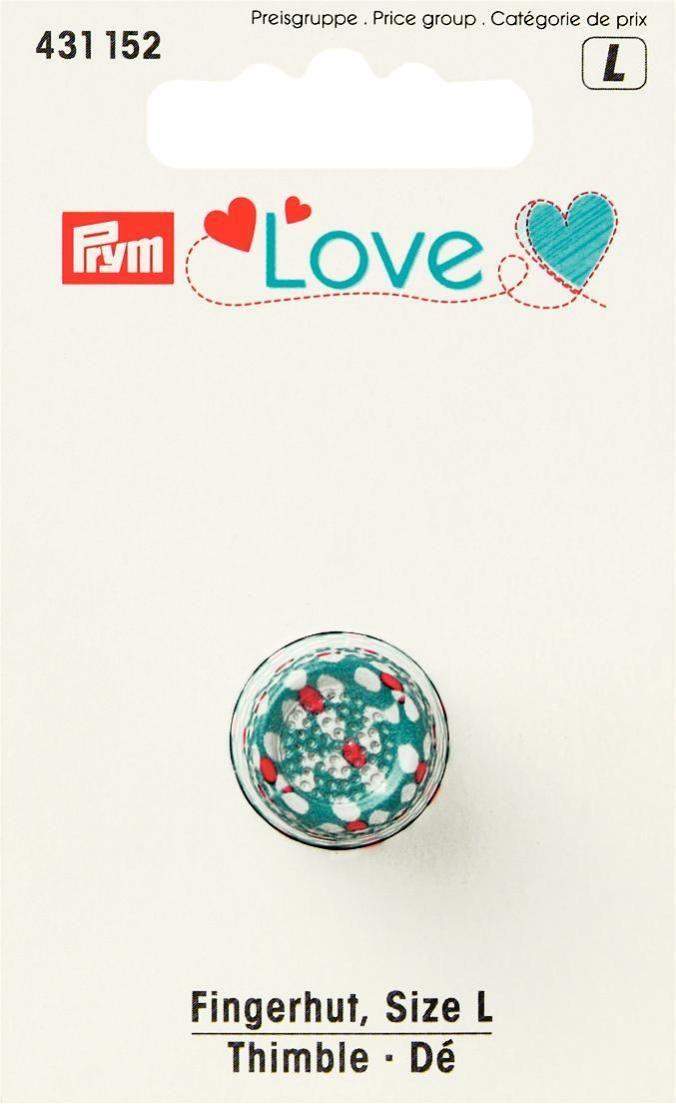 Наперсток Prym Love, цвет: синий, белый, красный, размер L prym