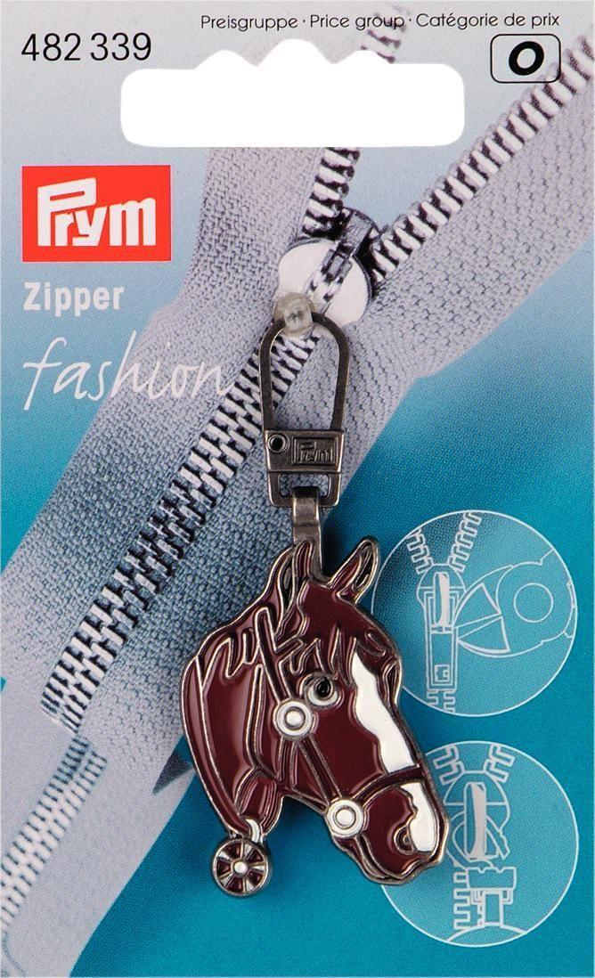 Подвеска для молнии Prym Голова лошади, с карабином, цвет: коричневый кейс для рукоделия prym цвет коричневый