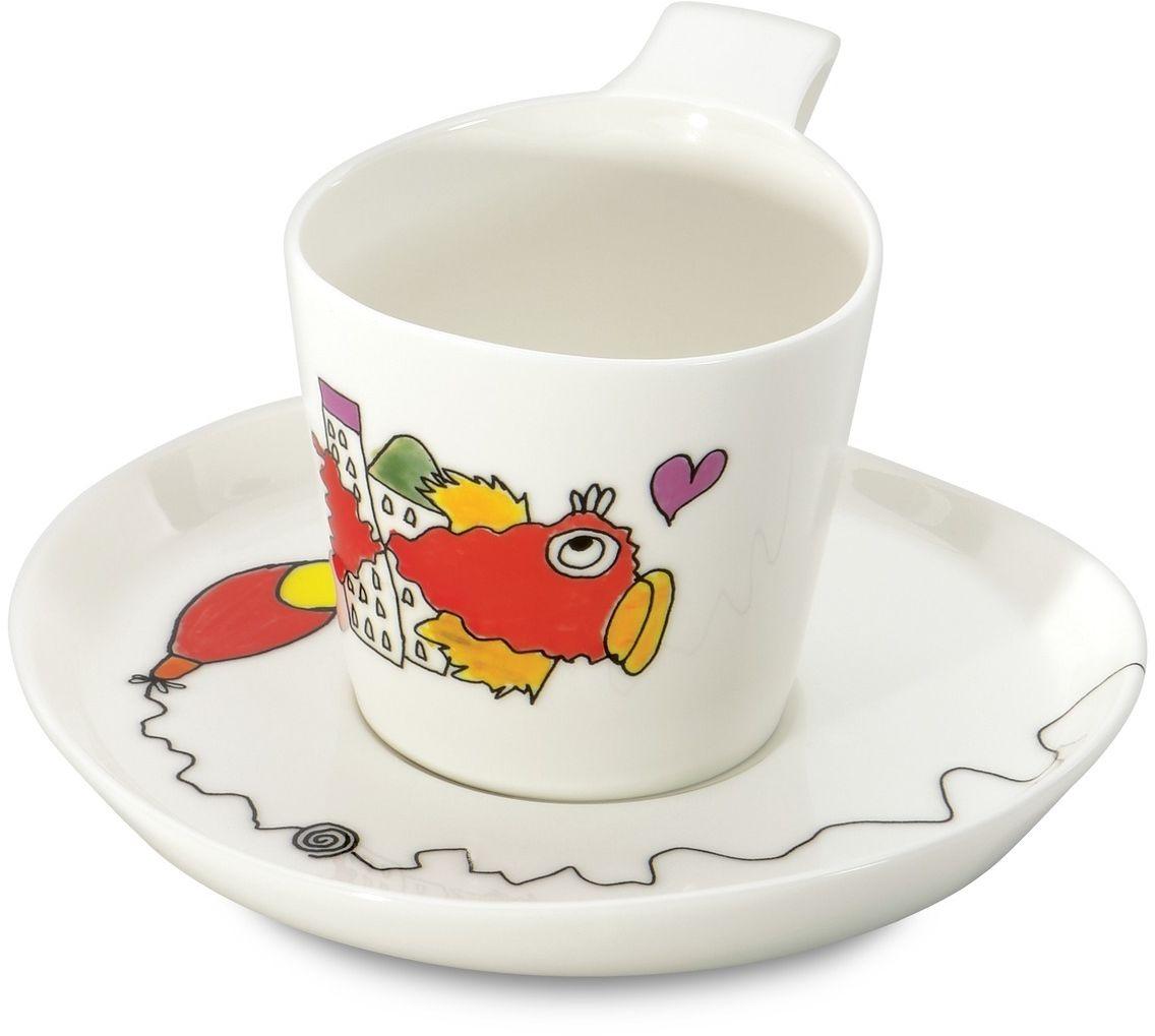 "Набор чашек для чая BergHOFF ""Eclipse"", с блюдцем, 240 мл, 2 шт"