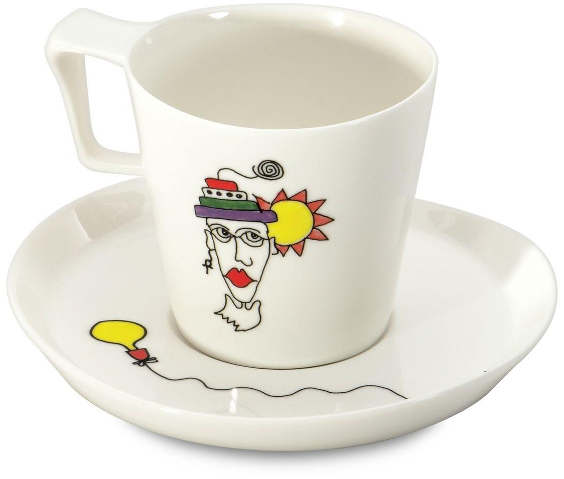"""Набор чашек для завтрака BergHOFF """"Eclipse"""", с блюдцем, 400 мл, 2 шт"""