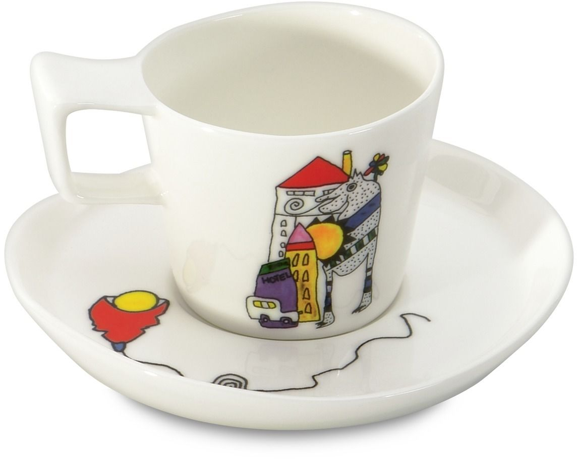 Набор чашек для эспрессо BergHOFF Eclipse, с блюдцем, 80 мл, 2 шт цена