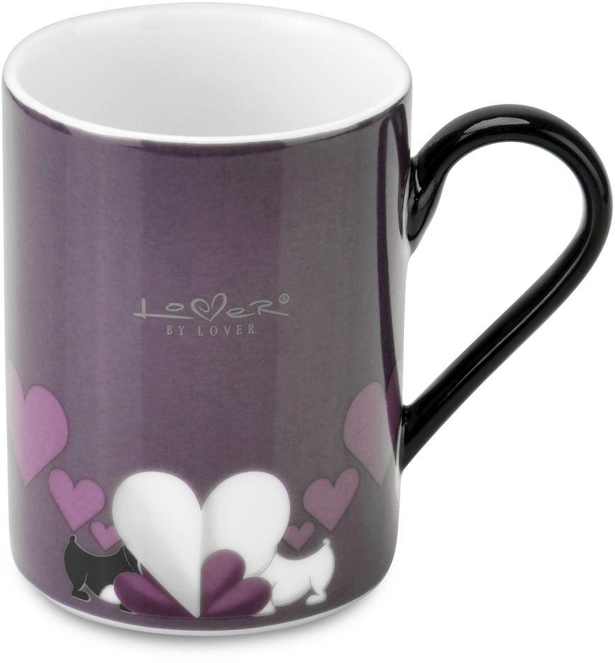 Набор кружек BergHOFF Lover by Lover, цвет: фиолетовый, 300 мл, 2 шт3800002Набор BergHOFF Lover by Lover состоит из двух кружек с ручками, выполненных из высококачественного фарфора. Изделия можно мыть в посудомоечной машине. Подходят для использования в микроволновой печи. Диаметр кружки (по верхнему краю): 7,5 см. Объем кружки: 300 мл. В комплекте: 2 кружки.