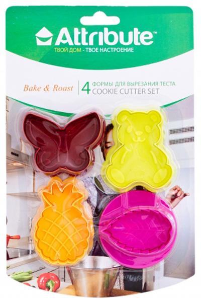 Набор форм для вырезания теста Attribute Cookie, 4 шт. ATV519 набор форм для вырезания теста attribute cookie 4 шт atv519