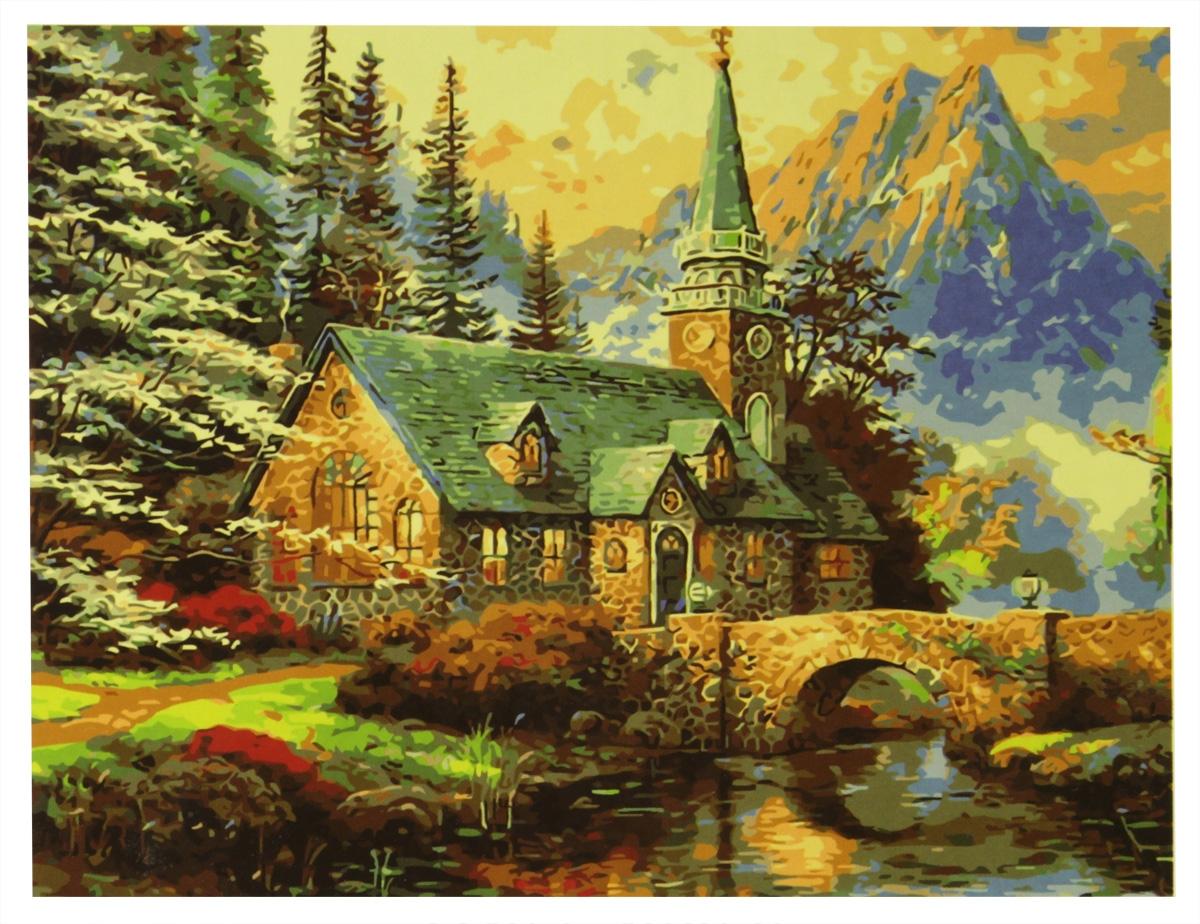 Фото - Набор для рисования по номерам Рыжий Кот Усадьба в горах, 40 х 50 см набор для живописи рыжий кот лошадь и кот в цветах 50 х 40 см