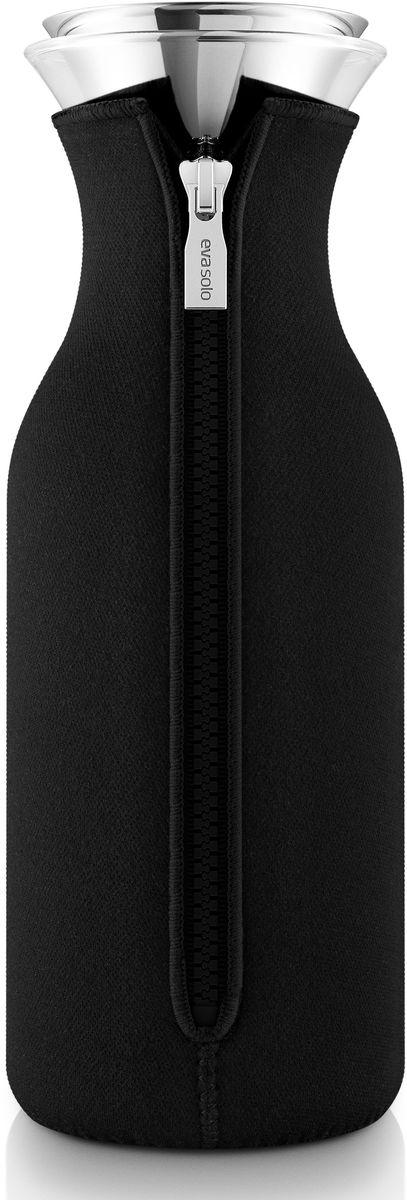 Графин Eva Solo Fridge, в чехле, цвет: черный, 1 л eva solo чайник заварочный в неопреновом чехле 1 л черный 567489 eva solo